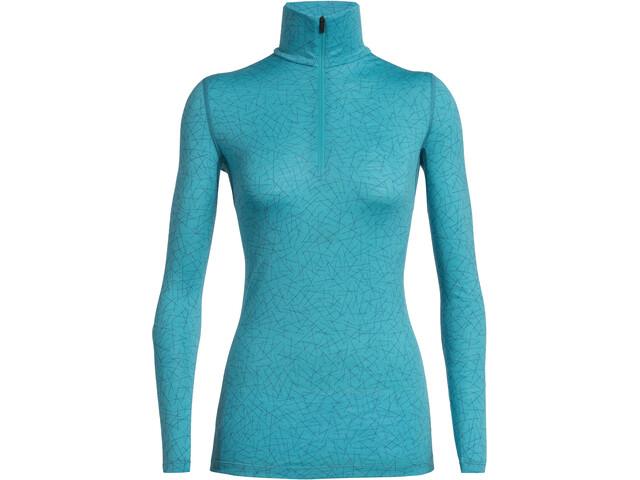 Icebreaker 200 Oasis Sky Paths LS Half-Zip Shirt Women, arctic teal